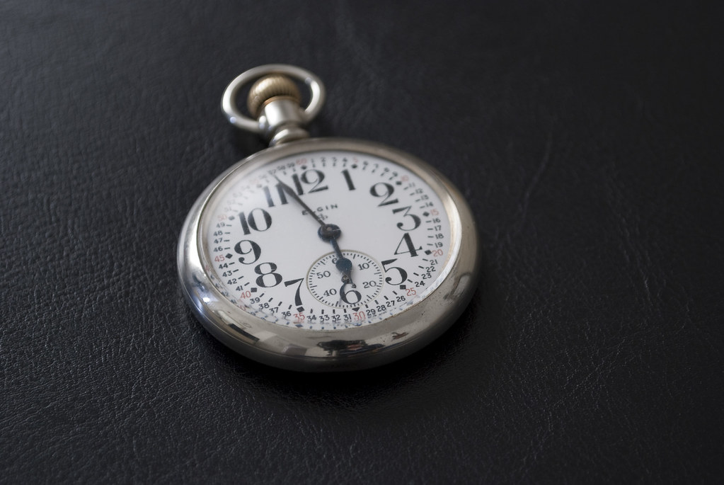 Elgin Father Time Pocket Watch