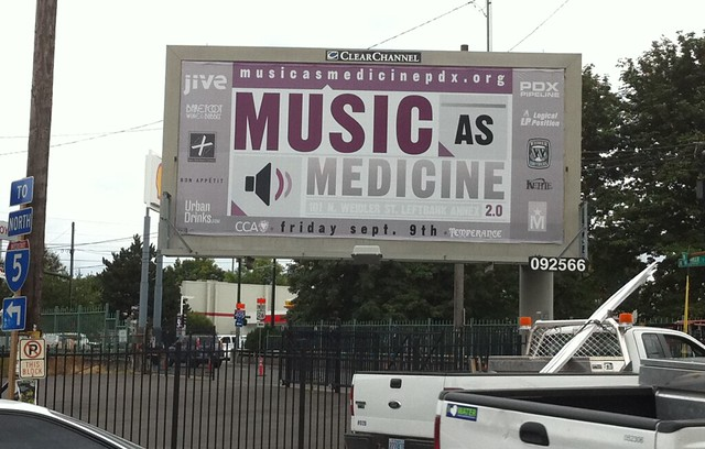 Music at Medicine Billboard @ Leftbank Annex