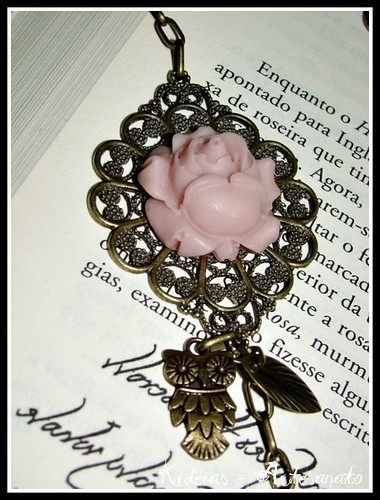 "Colar "" Vintage Rosa Velho"" by kideias - Artesanato"