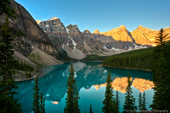 Moraine Lake - Alberta Canada (nailbender) Tags: lake canada mountains reflection water sunrise alberta morainelake nailbender diosensuinfinitagrandezaparacristinasanchez dignafernandez rositavasquez