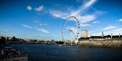 The Thames (Claire Brownlow) Tags: summer panorama london skyline landscape cityscape sunny londoneye bluesky riverthames thechallengefactory clairebrownlow