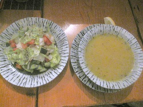 サラダ・スープ@ドルジャ・マフセン(練馬)