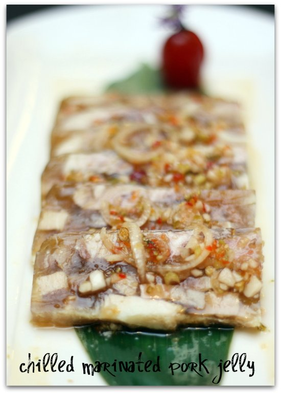 chilled marinated pork jelly