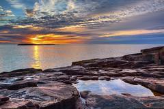 Acadia National Park Sunrise (Greg from Maine) Tags: morning seascape nature clouds sunrise reflections landscape nationalpark maine scenic newengland barharbormaine barharbor mountdesertisland acadianationalpark dragondaggeraward
