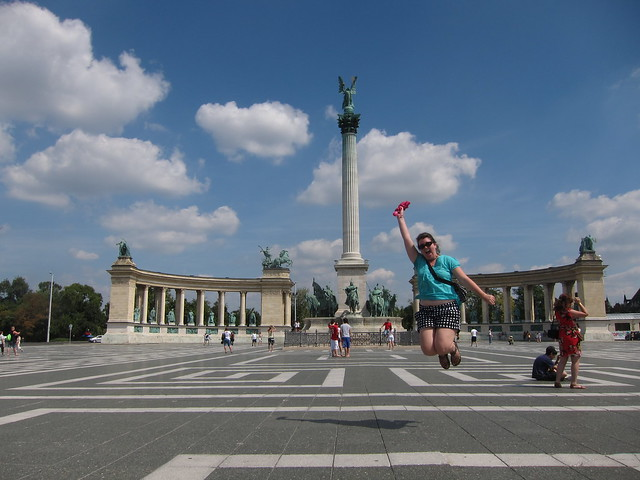 Jumping in Budapest