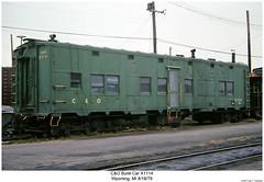 C&O Bunk Car X1114 (Robert W. Thomson) Tags: railroad train michigan railway trains railcar mow co traincar wyoming rollingstock chesapeakeohio mofw maintenanceofway campcar bunkcar