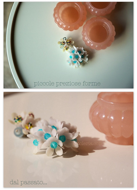 plastic vintage earrings
