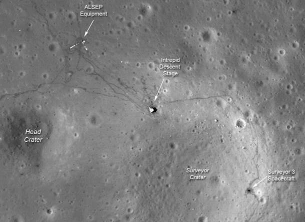 Lro Spots Apollo Landing Sites In High Res Bad Astronomy Bad