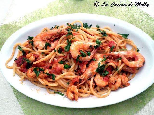 spaghetti ai gamberi;