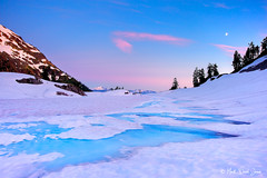 Frozen Paradise (mj.foto) Tags: sunset landscape frozen washington unitedstates turquoise 24mm northcascades lakeann gnd leefilters markjosue