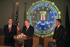 911: President George W. Bush Tours Federal Bu...