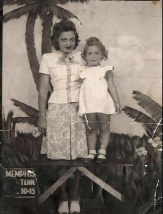 Ruthie May Craft and Marth Lynn Hardwick 1945