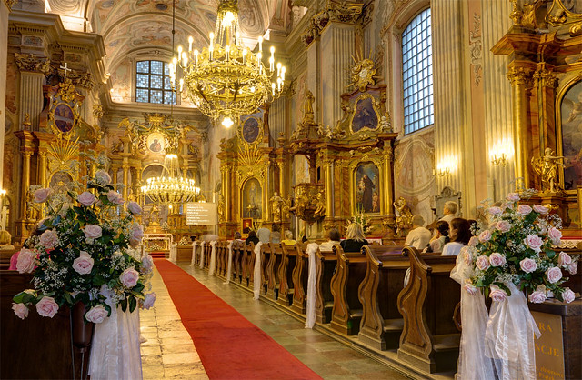 Church seremony in Warsaw