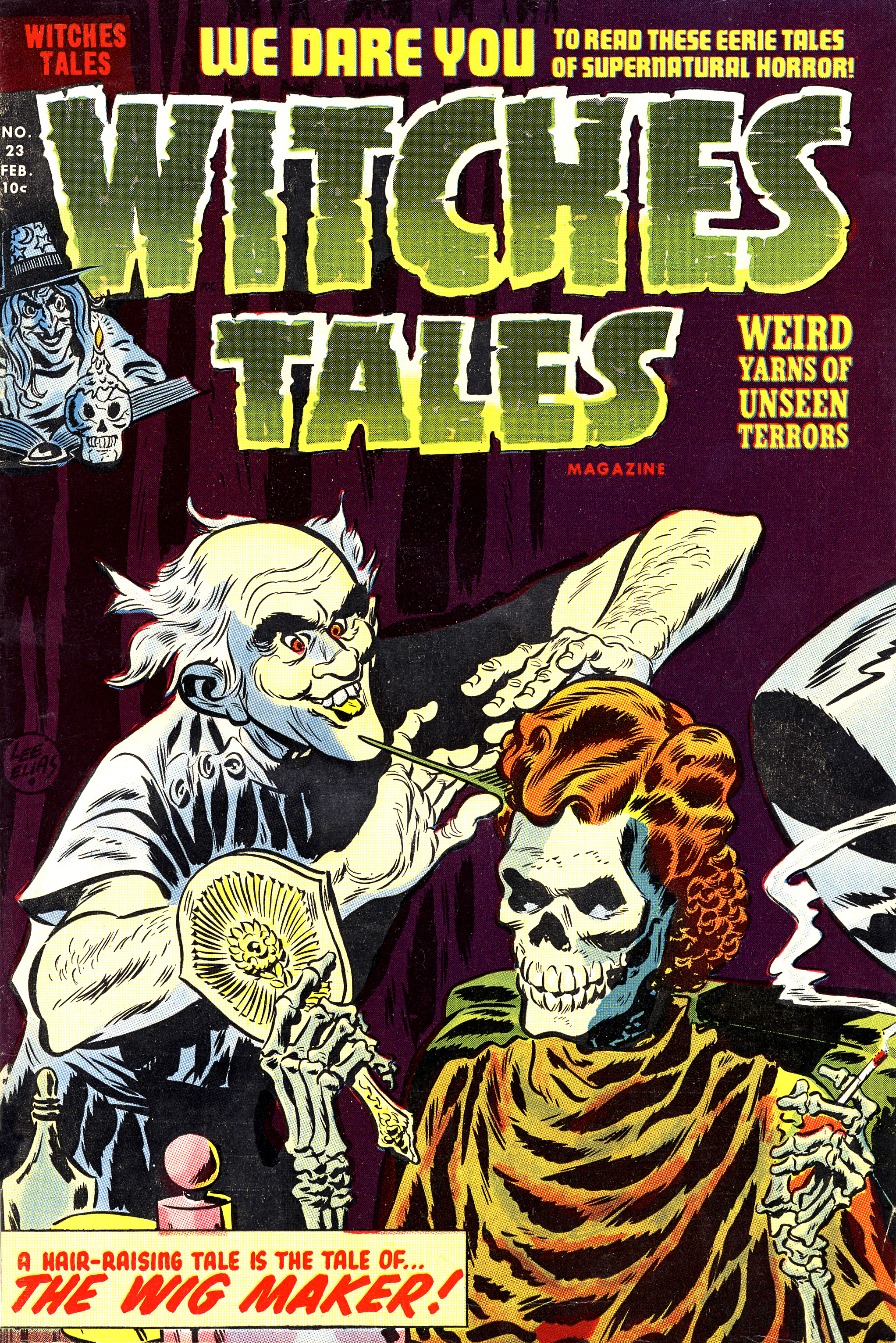Witches Tales #23, Lee Elias Cover (Harvey, 1954)