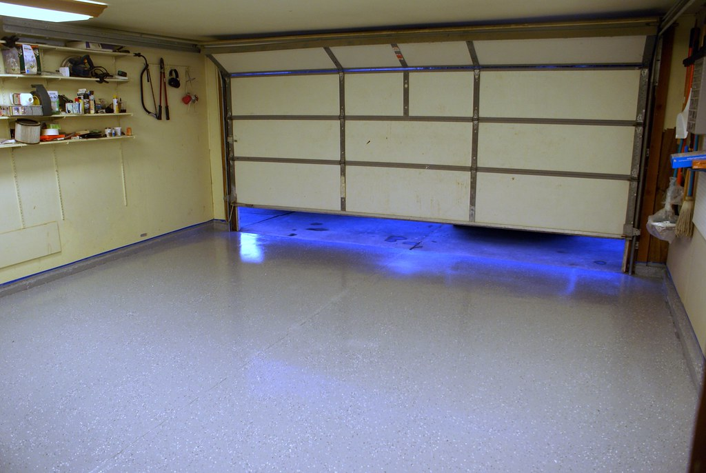 Epoxy coating on the Garage floor (from inside)