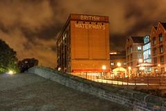 Nottingham waterways (Digsys Diner) Tags: nottingham uk england night canon dark eos evening canal cloudy icon gb 1855mm iconic hdr lightroom landmarkbuilding photomatix nottinhamshire 450d