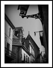 Sarlat (pics by paula) Tags: street windows light bw white black france canon buildings dark french lights shadows village shapes medieval powershot shutters lamps rue picnik g12 123bw picbypaula