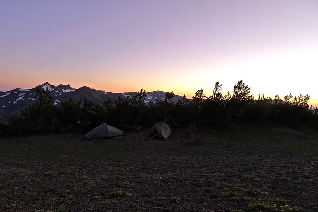 Campsite on top