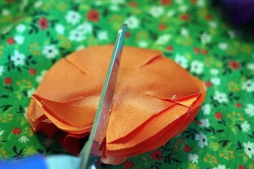 cutting petals