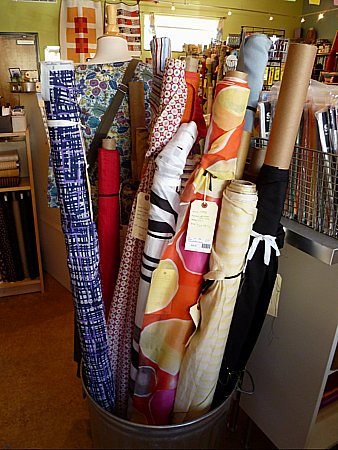 silk and other fine fabrics at Bolt