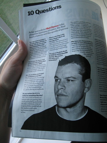 Matt Damon 10 questions