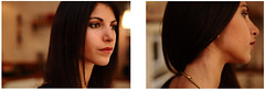 Lizette (Geoff  RT Ficiel ) Tags: portrait people collier 50mm nikon elise bokeh expression fille brune soeur lizette cheveux 2011 d90