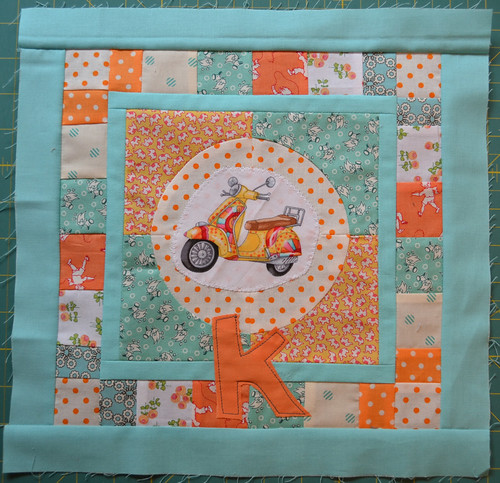 For Katherine, Aqua & Orange Bee