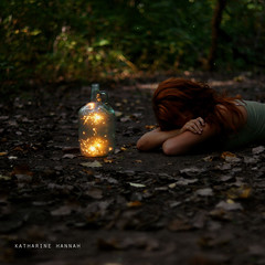 Inspirations, Aspirations (Katharine Hannah.) Tags: inspiration selfportrait texture glass girl leaves forest woods bokeh sparklers dirt jar jug aspirations inspirations