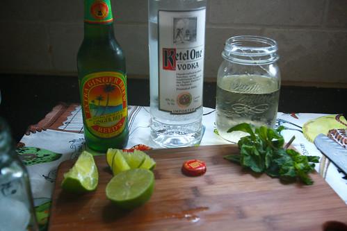 ginger beer vodka simple syrup