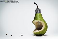 Pera OGM (luca mezzano photographer) Tags: light fruit composition crazy pear pera ogm strobist