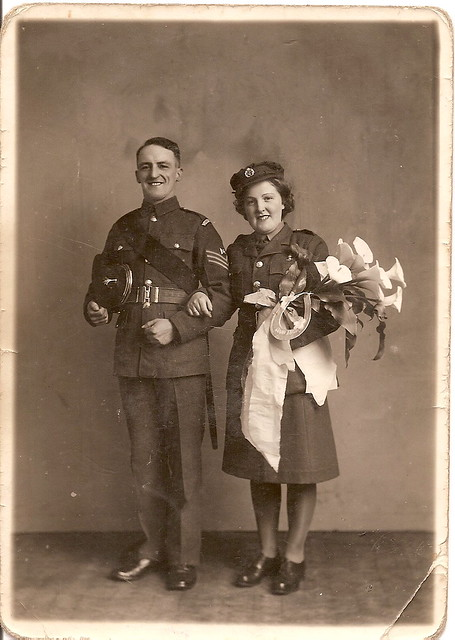 Grandma and Grandad wedding picture