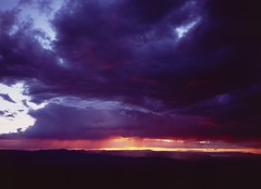 Brooding (voetshy) Tags: sunset cloud film rain oregon analog 35mm point shoot butte fuji slide velvia rim eastern abert 100f tagues dl300
