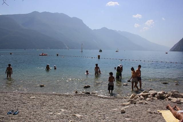 Playa en el Lago di Garda