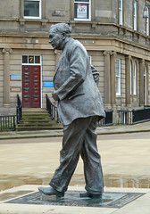 Statue of Harold Wilson, St George's Square, Huddersfield by Tim Green aka atoach