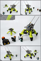 'Tarantula' Heavy Enforcement Sentry Unit (Pierre E Fieschi) Tags: vertical robot war factory tank lego pierre battle mini assault walker hero minifig mecha fieschi miniscale