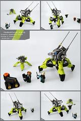 'Tarantula' Heavy Enforcement Sentry Unit (Pierre E Fieschi) Tags: vertical robot war factory tank lego pierre battle mini assault walker hero minifig mecha fieschi miniscale