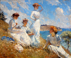 "Frank W. Benson  ""Summer 1909"" or ""Summer of 1909"", Oil on canvas"