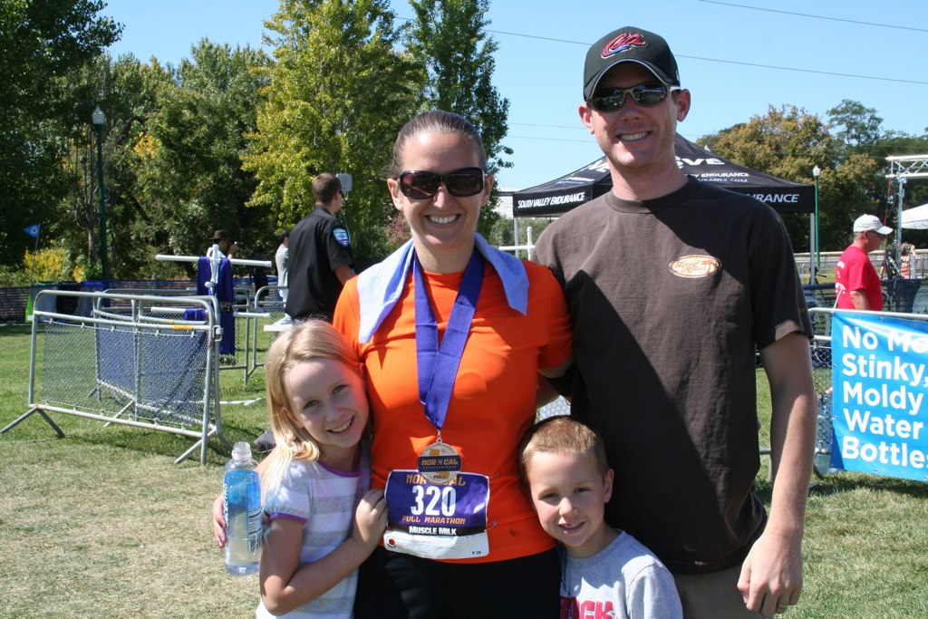 Me with the fam.  Nothing better than running to that finish line and seeing their faces.