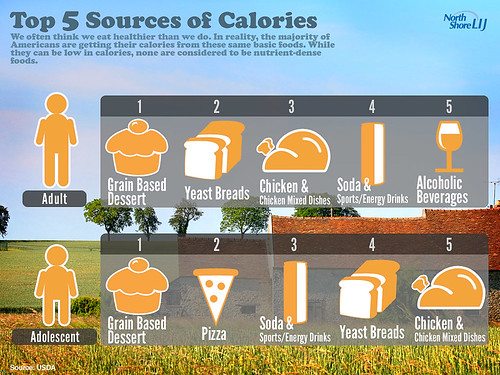 Top 5 Sourcees of Calories