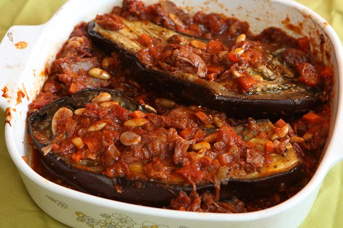 Roasted Eggplant with Sweet and Sour Duck Sauce