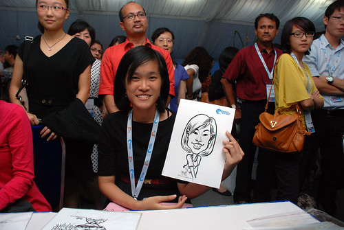 caricature live sketching for Singapore International Water Week Closing Dinner - 12