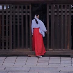 Series:Kyoto/Miko() (Explored) (Ayanami_No03) Tags: woman japan kyoto raw   miko yasakashrine    iphoto eoskissx4 eos550d