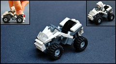Snow ATV (Cam M.) Tags: cool steering lego jeep suspension awesome atv epic moc