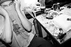 HOWARD THE LAD (sam_hutchinson) Tags: trip holiday art english film shirt 35mm canon copenhagen french t denmark eos gangster tour skateboarding desk sweden howard teenagers drawings joe skaters skate british haunting 100 mm scandinavia 35 skateboards malmo pontus teenage hesh sayer alv blackwhitephotos shralp