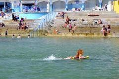 Having fun in Havre de Pas swimming pool