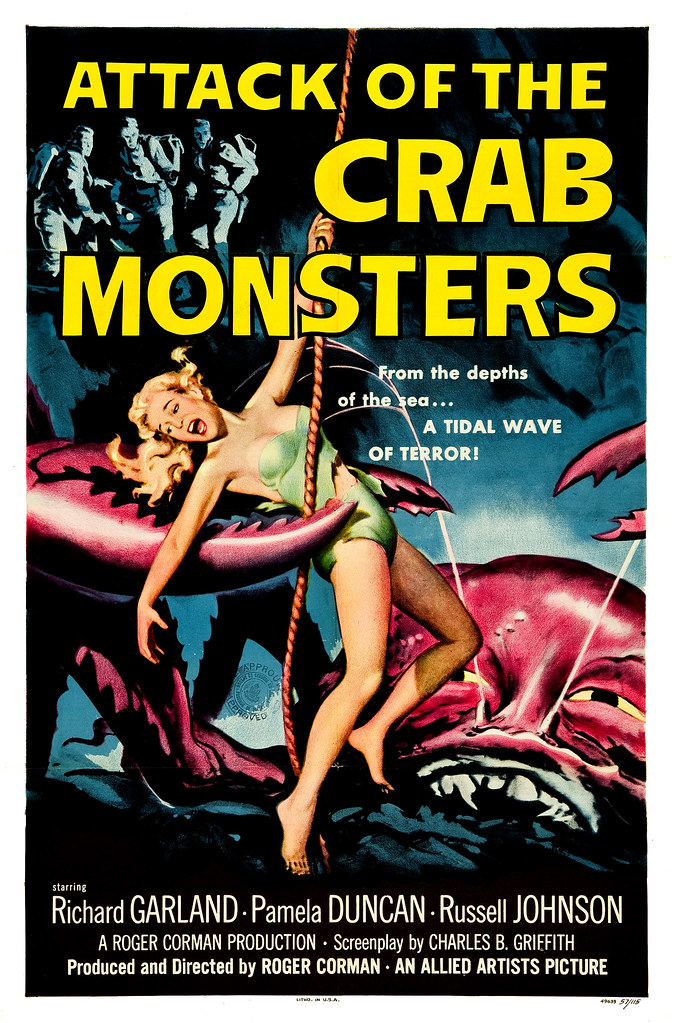 Albert Kallis - Attack of the Crab Monsters (Allied Artists, 1957) One Sheet