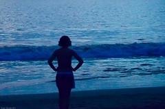 Deep blue (squesada70) Tags: ocean blue beach water costarica silhouete playahermosa guanacaste