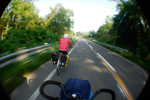 Biking on the Shakotan Peninsula, Hokkaido, Japan