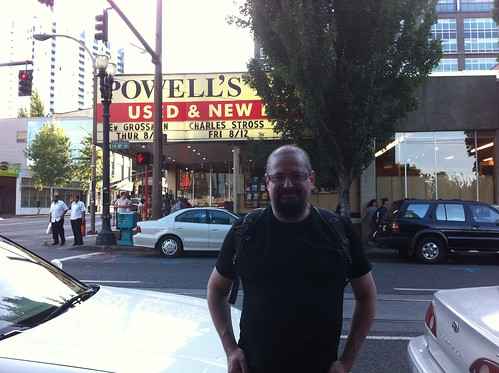 Charlie Stross at Powell's in Portland
