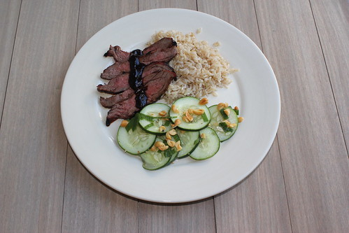 la chapstick fanatique: spicy skirt steak with cucumber salad